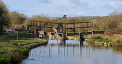 Lock Gates (Mark Wasteney) Tags: lockgates canal fence fencedfriday rail water bude westcountry cornwall kernow photostitch