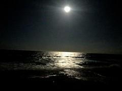 Moon over the Atlantic Ocean- off the coast of West Palm Beach, Florida (mcubs) Tags: moonlightonatlanticocean brightmoon pictureofmoon atlantic atlanticocean ocean moonlight florida westpalmbeach jupiter mooninsky skies sky space lunar moon