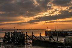 _1200034-2 (Paul_sk) Tags: winter sunset shoeburyness essex river thames beach mud boats clouds sun sky southendonsea