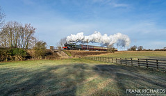 7802 | Quorn | 3rd Feb '19 (Frank Richards Photography) Tags: quorn woodhouse gcr great central railway 2019 feb february niknon 3rd d7100 manor bradley train steam western gwr gw severn valley 7802 460 uk england loughborough locomotive 0930 field winter frost smoke