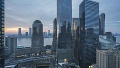 WTC Sunset TL 020219 UHD with music (Michael.Lee.Pics.NYC) Tags: newyork wtc sunset oculus 911memorial brookfieldplace hudsonriver jerseycity aerial hotelview milleniumhilton millenniumhilton reflection sky architecture cityscape skyline clouds timelapse video daytonight night twilight bluehour sony a7rm2 fe24105mmf4g