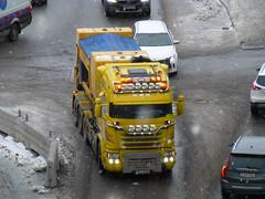 Scania G450 (skumroffe) Tags: scaniag450 scania g450 björksschakttransportab björksschakttransport björks truck lorry camion lkw lastbil kranbil saltbil solnavägen solna stockholm sweden råsunda