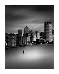 Wet Commute (TS446Photo) Tags: nikon city architecture fineart longexposure water river london art sculpture blackandwhite noiretblanc