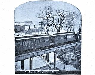 Ninth Avenue El, Manhattan, at the Battery (Whitehall Street) Station, undated.