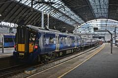 Glasgow Queen Street (whosoever2) Tags: uk united kingdom gb great britain scotland nikon d7100 train railway railroad february 2019 glasgow queen street station scotrail class385 385124
