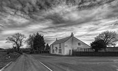 Wingate Lodge (Durham George) Tags: wingate wheatleyhill trimdon trimdongrange desres house mono blackandwhite durham clouds trees road traffic