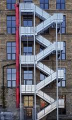 Zig-Zag (Mr_Pudd) Tags: windows window glass stone zinc steel fireescape globemill huddersfield slaithwaite