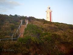 Devonport Lighthouse - Morning light (Lesmacphotos) Tags: beach seascape rocks sea lighthouse mersey bluff devonport