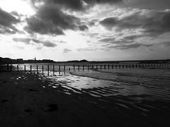 Plage du Sillon - Saint Malo (Takamet) Tags: plagedusillon sillon saintmalo saint malo plage beach mer sea noiretblanc blackandwhite bretagne