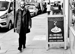 Not Tempted ? ? (jaykay72.) Tags: london uk street candid streetphotography greattowerstreet stphotographia blackandwhite bw