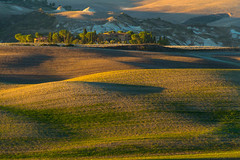 on the hill (iwona.kilichowska) Tags: shadows countryside landscape colours hills tuscany light nature layers fields italy outside scenery