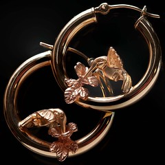 Macro Mondays Jewelry (brucekester@sbcglobal.net) Tags: macromondays jewelry hummingbirds earrings gold rosegold ear rings