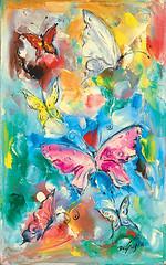 "DeGrazia's ""Butterflies"" (DeGrazia Gallery in the Sun) Tags: teddegrazia degrazia ettore ted artist galleryinthesun artgallery gallery nationalhistoricdistrict nonprofit foundation adobe architecture tucson arizona az santacatalinas desert paletteknife oil paintings butterflies"