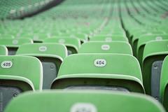 Error 404: seat not found (Andrey Baydak) Tags: seats plastic stadium green perspective bokeh 404 http error404 errormessage bregenz tribune amphitheatre amphitheater bregenzerfestspiele spectators dof numbers notfound pagenotfound errorpage 404page 2470