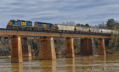 CSX F765-08 crossing over the Congaree River (Travis Mackey Photography) Tags: csx f765 congaree river cayce sc columbia sub sline gp402