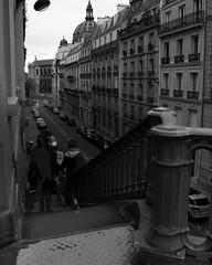 fugaces (danielponga) Tags: street photography paris blackandwhite parisstreet streetphotography day shadows grey gray stairs architecture old vintage shutter timelapse rue noiretblanc noir blanc escaliers people canon dslr gris