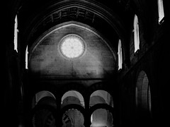 Cathedral light (qprmick) Tags: cordoba spain cathedral church atmospheric moody black white ceiling architecture wall stained glass