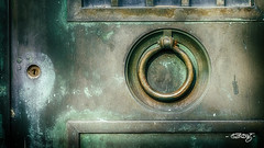 Keyhole And Pull (dougkuony) Tags: hdr holysepulcrecemetery cemetery door holysepulcre mausoleum