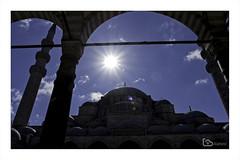 Süleymaniye Mosque (alamond) Tags: canon 7d markii mkii llens ef 1740 f4 l usm alamond brane zalar suleymaniyemosque mosque sinan architecture suleyman istanbul turkey sky blue sun light lightrays sultan