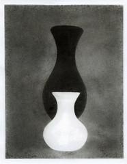 2 vases (Alexander Tkachev) Tags: alternativephotography alexandertkachev bromoil blackwhite stilllife largeformat film hp5