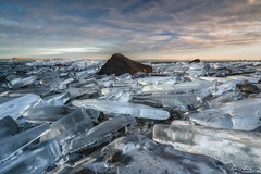 Ice Age (ludwigriml) Tags: blue clouds forest heap horizon icefloe lakehjälmaren ludwigrimlphotography puddle rock sky stack floe hillock ice lake outdoors pile odensbacken örebrocounty sweden se