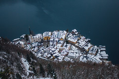 Bird's Eye View of Hallstatt (freyavev) Tags: hallstatt fromabove austria österreich lake water village vsco canon canon700d snow winterwonderland mikasniftyfifty outdoor hiking birdseyeview