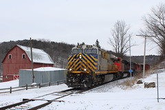 CREX 1516 (cc8039) Tags: crex cn ic cc trains es44ac sd70m2 c408w c408 red barn snow council hill galena illinois