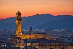 Palazzo Vecchio & Sunset (Luís Henrique Boucault) Tags: ancient architecture arno art beautiful building cathedral city cityscape culture duomo dusk europe european famous firenze florence golden history italian italy landmark landscape light maria medieval michelangelo night old palace palazzo renaissance river santa sky skyline square stone sunset toscana tourism tower town travel tuscan tuscany twilight urban vecchio view