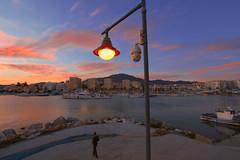 Estepona Harbor (annemwo) Tags: february estepona spain illumination dusk evening water city harbor