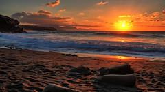 Ajuy Sunset (kalbasz) Tags: ajuy spain sea wave ocean fuerteventura outdoor nature beach sunset sunrise sun clouds sands fujixt2 xf1024