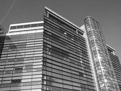 Glass In Monochrome (Gary Chatterton 5 million Views) Tags: glass officeblock building monochrome blackandwhite reflection windows leeds westyorkshire unitedkingdom architecture flickr explore canonpowershot photography