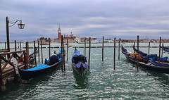 "Gondolas and San Giorgio Maggiore island • <a style=""font-size:0.8em;"" href=""http://www.flickr.com/photos/45090765@N05/32246304987/"" target=""_blank"">View on Flickr</a>"