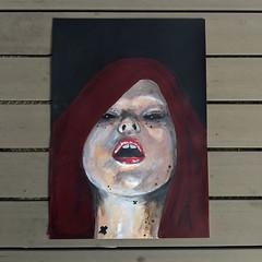 Scarlett (id-iom) Tags: idiom isle man woman baby father birth scarlet hair street urban art graffiti