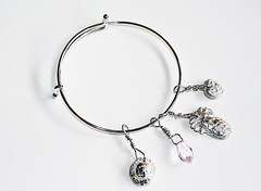 Precious Metal Clay Charms Bracelet (Bits of Clay) Tags: bracelet handmade preciousmetalclay charms adjustable