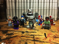 Sickoftheseguysicide Squad (Lord Allo) Tags: lego dc suicide squad black spider king shark amanda waller el diablo captain boomerang deadshot harley quinn