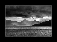 Extremes_2746 BW (The Terry Eve Archive) Tags: receding blackandwhite monochrome mountains hills islands skye scotland uk britain sea