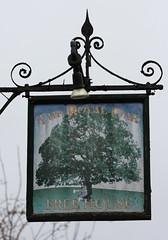The Royal Oak pub sign Langhurst Wood near Horsham West Sussex UK (davidseall) Tags: the royal oak pub pubs sign signs inn tavern bar public house houses langhurst wood horsham west sussex uk gb british english hanging