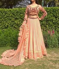 lehenga choli designer (Satish singh Fashion Designer) Tags: avikalpfashionofficial fashion designer avikalp by divya satish lehenga blouse delhi choli best 👗 gown long india party wear dresses for girls women bridal hand work bride 😀😀😀 orange colour