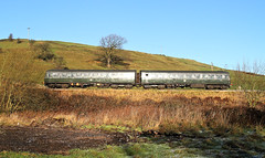Side-On Class 101 Near Oakworth. (Neil Harvey 156) Tags: railway class101 m51189 sc51803 oakworthmound oakworth keighleyworthvalleyrailway kwvr firstgenerationdmu dmu multipleunit brgreen metropolitancammell glint