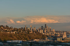 Magnolia Sunset Views 10 (C.M. Keiner) Tags: seattle washington usa city cityscape skyline mountains pacific northwest puget sound sunset magnolia hills clouds spring cherry blossoms