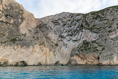 Caves on the coast of Zakynthos, in the Ionian Islands of Greece
