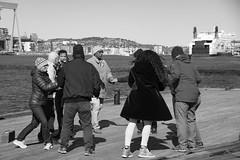 Dancing Salsa on the Pier (Rudi Pauwels) Tags: 2019onephotoeachday dancing salsa rodasten klippan goteborg people streetshot streetphotography candid bw blackandwhite