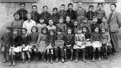 Class photo (theirhistory) Tags: boy child kid girl school class form pupils jacket trousers wellies shoes teacher dress skirt boots