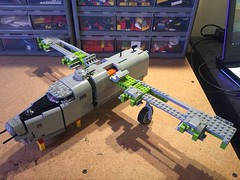 Lego B-24 WIP - 04 (Lt. SPAZ) Tags: lego moc wip consolidated b24j b24 liberator bomber 446th wwii world war 2 allies airplane bungay brickaroo usaaf