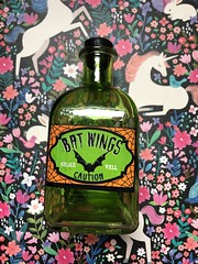 Bat Wings bottle #cute #halloween #bat #batwings #ilovebats #green #bottle #love (direngrey037) Tags: cute halloween bat batwings ilovebats green bottle love