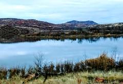 (lillypotpie) Tags: wichitamountainwildliferefuge mountains prairies oklahoma water skies foilage trees prairiegrasses colorsofwinter winter landscape