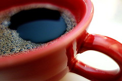 Morning Cuppa [Macro Mondays][Brew] (Mrs. Trusty) Tags: brew coffee bubbles fiestaware cup macromondays