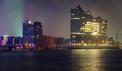 Hamburg at night (jan.arnds) Tags: hamburg night elbphilharmonie lights water hafen city germany