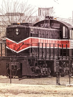 Fenced in Locomotive
