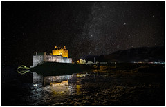Eilean Donan at Night (muddybootsuk) Tags: eileandonan lochduich dornie westernhighlands lochlong landscape night stars castle reflections astro water nikond850 greatbritain scotland united kingdom kyle